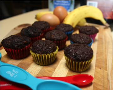 Recipe of the week: Banana, Cacao and Coconut Muffins!