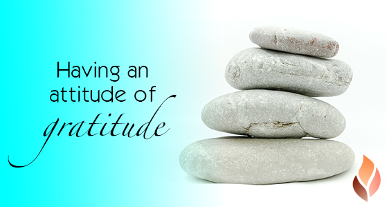 Having an attitude for gratitude
