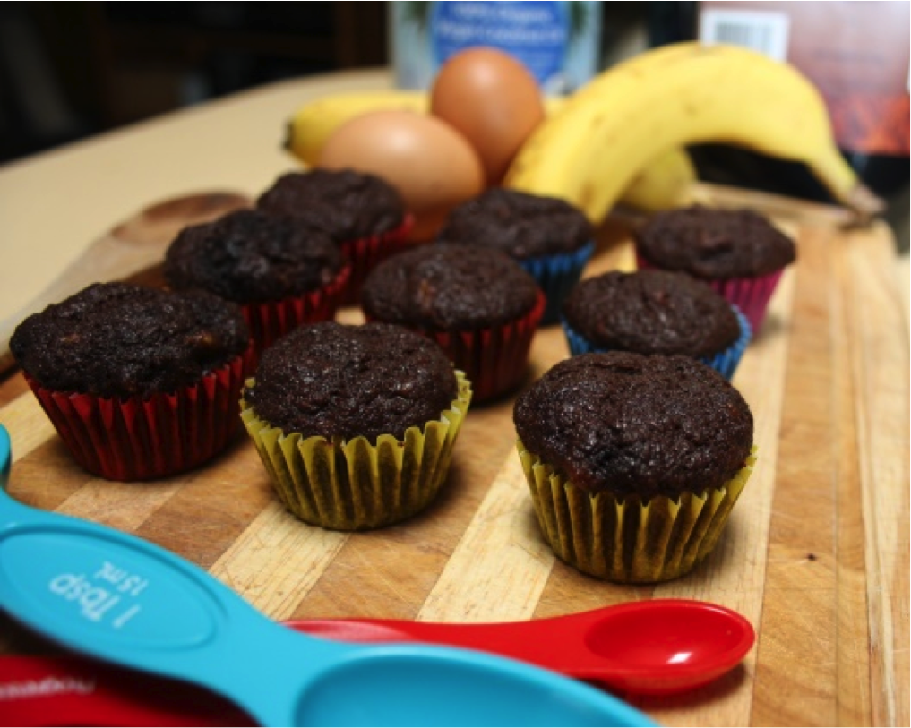 Recipe of the week: Banana, Cacao, Coconut Muffins